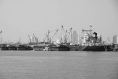 Hafen-Fracht, Klong Toey, Thailand Stockfotografie