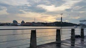 Hafen-Front, Singapur Lizenzfreie Stockbilder