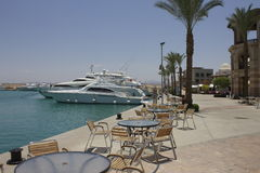 Hafen Ghalib International Marina stockbilder