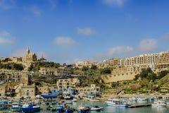 Hafen in Gozo Stockbild