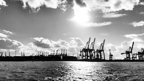 Hafen Hamburg Obrazy Royalty Free