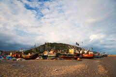 Hafen in Hastings, Großbritannien stockbild