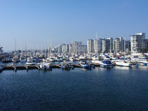 Hafen in Helsingborg, Schweden Lizenzfreie Stockfotografie