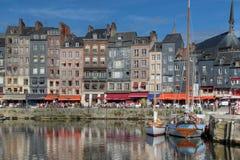 Hafen in Honfleur, Frankreich Stockfotografie