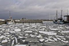 Hafen im Winter Lizenzfreie Stockfotos