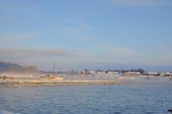 Hafen im Winter lizenzfreie stockbilder