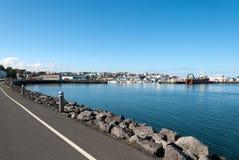 Hafen in Island Lizenzfreie Stockfotos