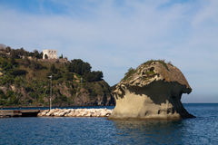 Hafen Italiens-Lacco Ameno Lizenzfreie Stockfotos