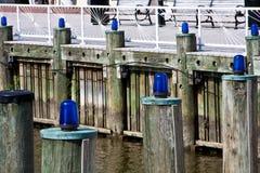 Hafen-Leuchten Stockfotos
