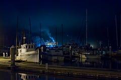 Hafen-Lichter am Jachthafen stockfotografie