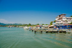 Hafen in Livingston Guatemala Lizenzfreies Stockfoto