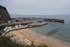 Hafen in Llastres Stockfotografie