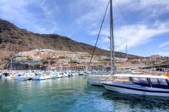 Hafen Los Gigantes, Teneriffa, Kanarische Inseln, Spanien Stockfotografie