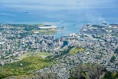 Hafen Louis Mauritius lizenzfreie stockfotos