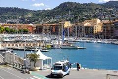Hafen Lympia in Nizza in Frankreich Lizenzfreies Stockfoto