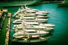 Hafen Monte Carlo lizenzfreies stockbild