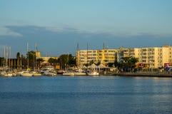 Hafen morgens Stockbild