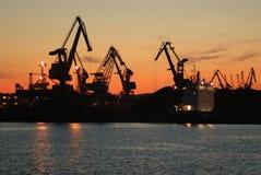 Hafen nachts Lizenzfreie Stockbilder