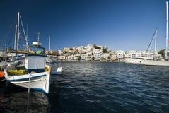 Hafen in Naxos Stockbild