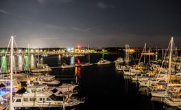 Hafen-neues Brand-North Carolina Stockbild