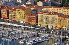 Hafen in Nizza Stockfoto