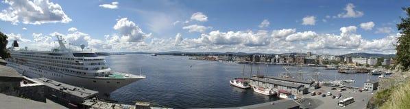 Hafen in Oslo stockfoto