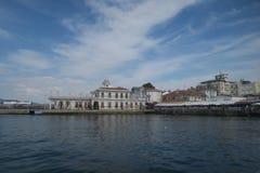 Hafen an Prinzen Island Buyukada im Marmara-Meer, nahe Istanbul, die Türkei stockbild
