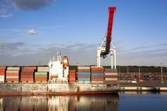 Hafen-Reflexionen Stockbild
