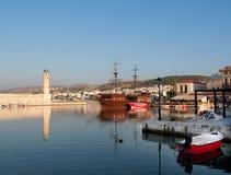 Hafen in Rethymnon Stockbilder