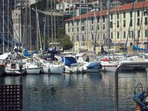 Hafen Savonas Italien stockfotografie