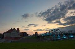 Hafen Shulz in Grudziadz lizenzfreies stockbild