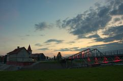 Hafen Shulz in Grudziadz lizenzfreie stockbilder