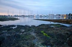 Hafen Sidney Marina, Sidney, Britisch-Columbia Stockbild