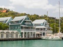 Hafen in St Lucia Lizenzfreie Stockfotos