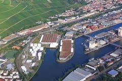 Hafen Stuttgart Untertürrkheim. At outumn Royalty Free Stock Photo