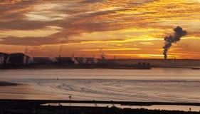 Hafen-Talbot-Stahlwerk lizenzfreies stockfoto