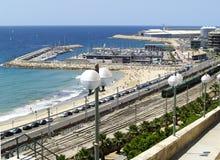 Hafen in Tarragona, Spanien Lizenzfreies Stockbild
