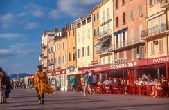 Hafen und alte Stadt von Saint Tropez Lizenzfreies Stockbild