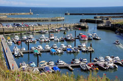 Hafen und Jachthafen Seaham Lizenzfreie Stockfotos