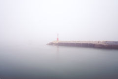Hafen und Nebel Lizenzfreies Stockbild