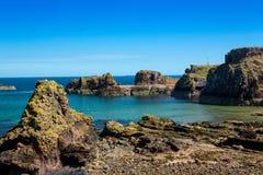 Hafen und Schloss Dunbar Stockbilder