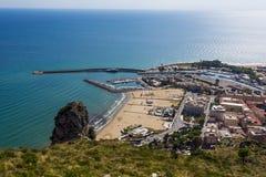 Hafen und Seeküste von Terracina, Lazio, Italien Lizenzfreie Stockfotografie