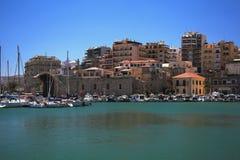 Hafen und Stadt Iraklion, Kreta, Griechenland Lizenzfreie Stockfotografie