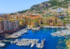 Hafen und Stadtbild von Monte Carlo Stockfotos