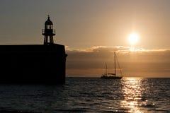 Hafen und Yacht Hafen Erin bei Sonnenuntergang Lizenzfreie Stockfotografie