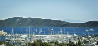 Hafen und Yachten Bodrum Stockfoto