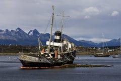 Hafen Ushuaia, Argentinien lizenzfreies stockfoto