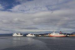 """Hafen Ushuaia Argentinien, Hafen Ushuaia Argentinià """" stockbild"""