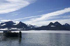 Hafen in Valdez Stockbilder