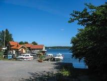 Hafen in Vaxholm Stockbilder